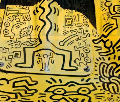 keith haring yellow car