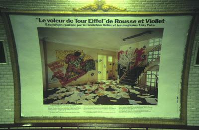 viollet et rousse affiche metro paris