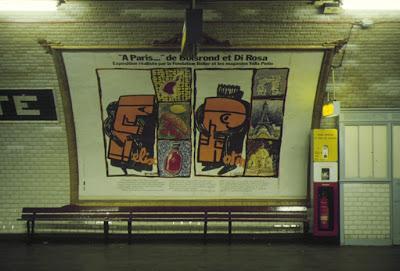 boisrond et di rosa affiche metro paris