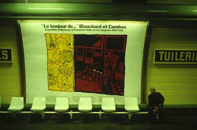 combas et blanchard affiche metro