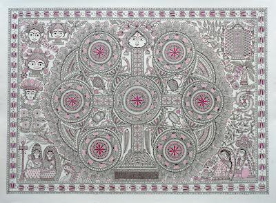 godawari dutta tantra drawing mithila madhubani