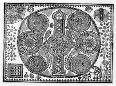 ritual painting from mithila madhubani india