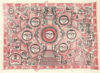 ganga devi kohabar mithila ritual painting