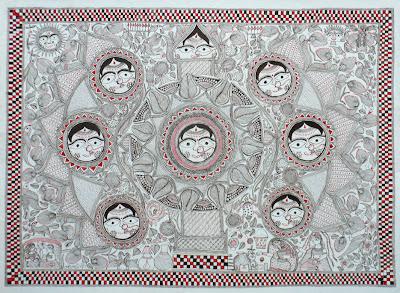 leela devi ritual drawing mithila madhubani