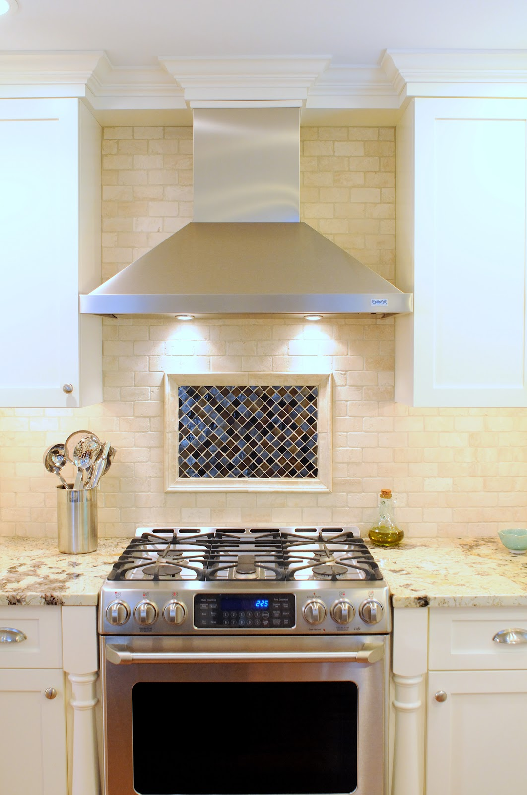 Images Over Kitchen Range with Hood