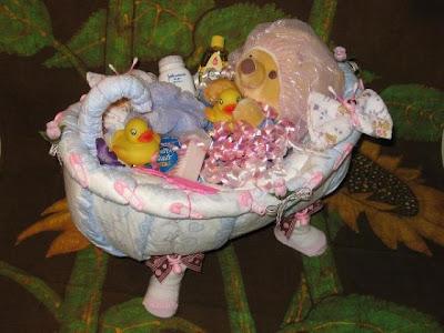 The Chic Sheikhs Diaper Wreath Baby Shower Gift Fun Idea