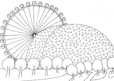Simple Ferris Wheel Coloring Coloring Pages