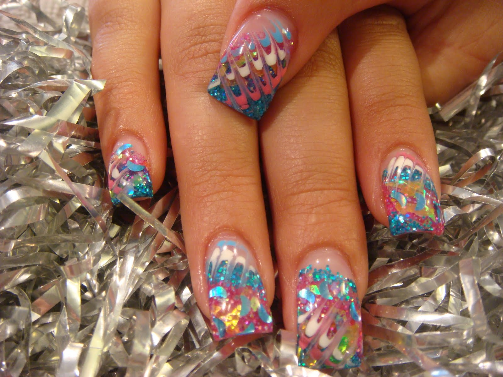 Pink Creative Nail Design - 2015 Best Nails Design Ideas