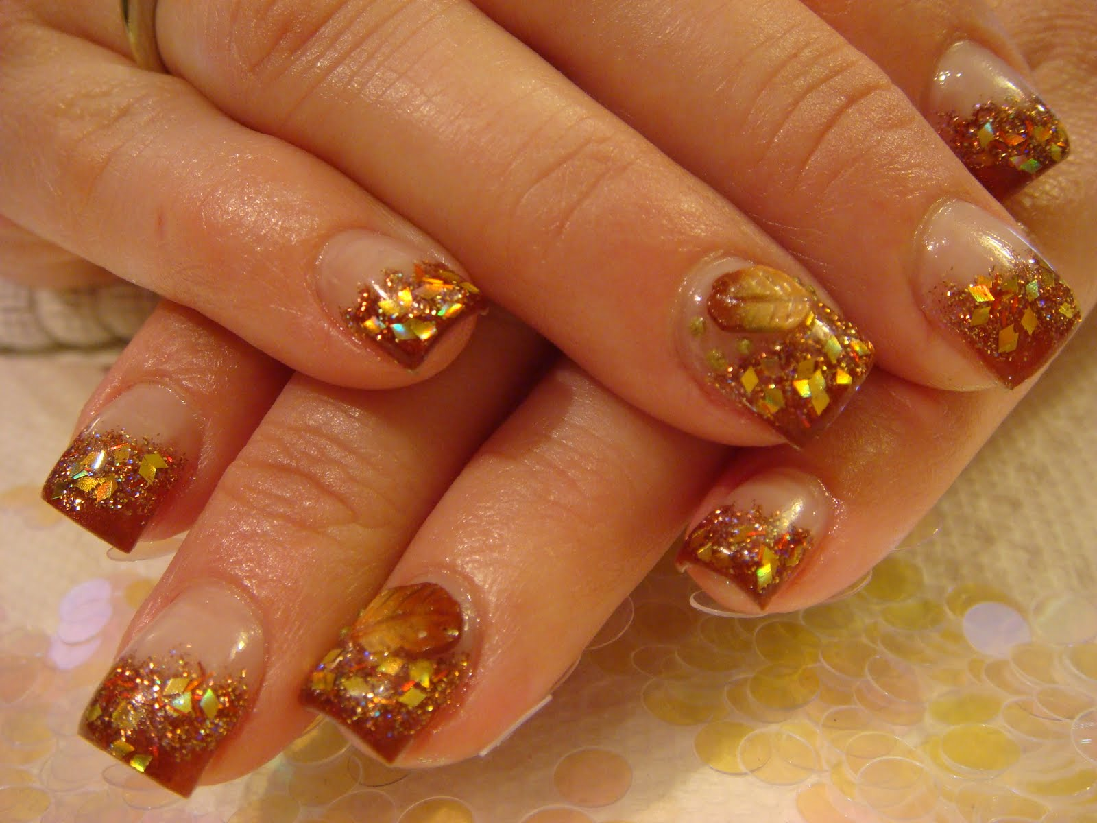 AUTUMN NAILS ACRYLIC 2010