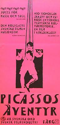 Filmaffischen för Picassos äventyr.