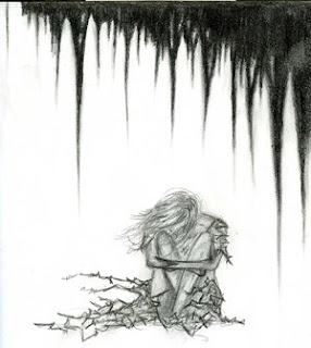 وحيدة-انطوائية-هموم-غموم-تحت-الشجرة-جالسة-أفكر-أتأمل-أبكي