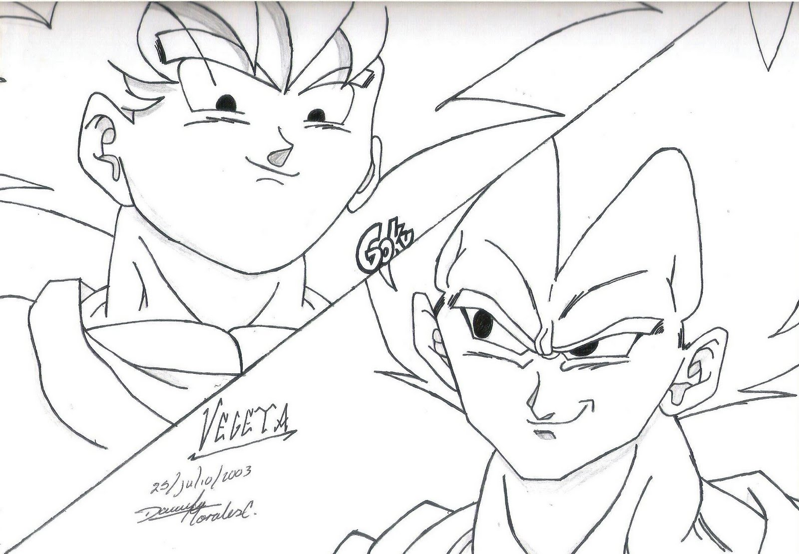 Free Coloring Pages Of Dibujo De Goku Fase 4
