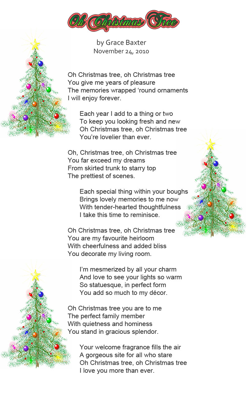 Oh Christmas Tree.It S All About Christmas Oh Christmas Tree By Grace Baxter