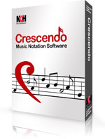 Crescendo music notation software for composing and writing musical scores