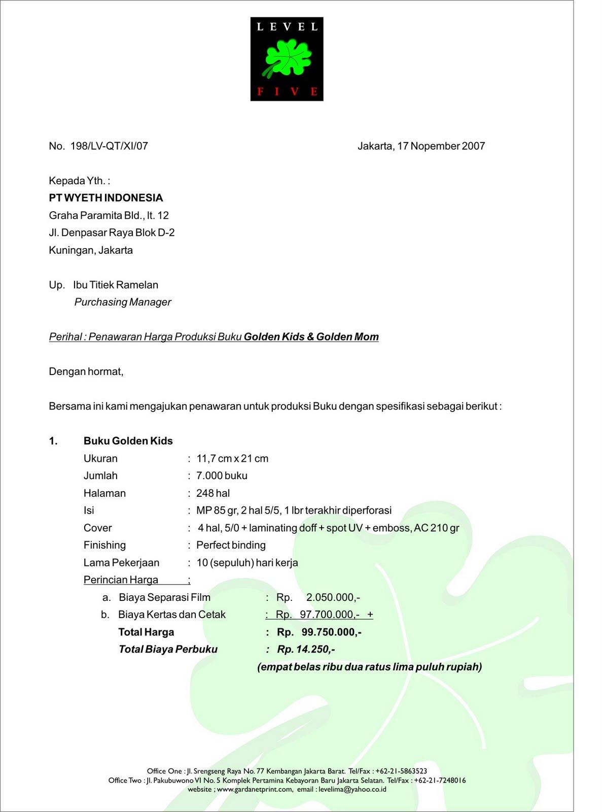 Contoh surat penawaran harga hotel surat 25 contoh surat penawaran contoh surat penawaran bisnis page altavistaventures Gallery