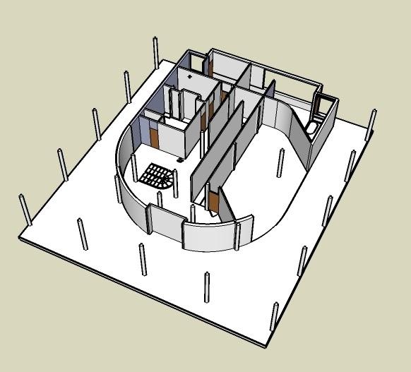Ground Floor Plan on 3d Floor Plan