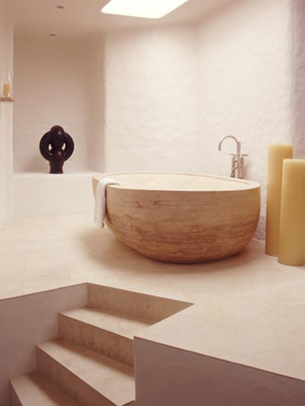 Photo de salle de bain moderne meuble et decoration de salle de bain - Salle de bain avec bain sur pattes ...