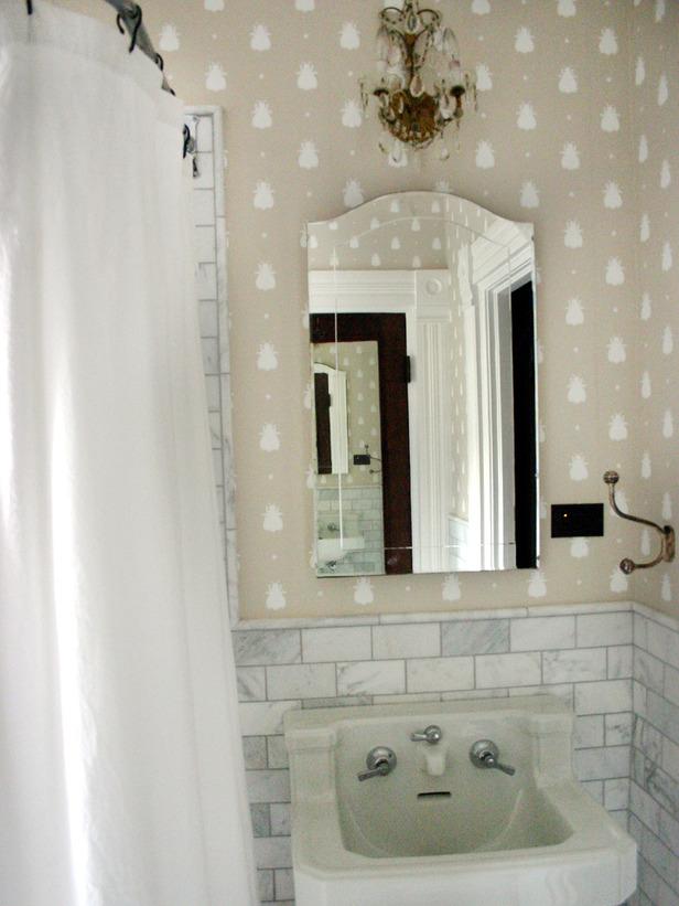 papier peint salle de bain 4 murs. Black Bedroom Furniture Sets. Home Design Ideas