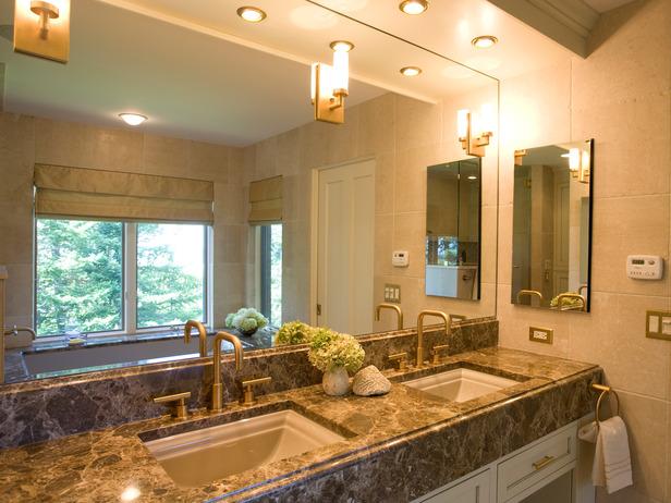 Photos de salles de bains contemporaines meuble et for Peinturer un comptoir de salle de bain