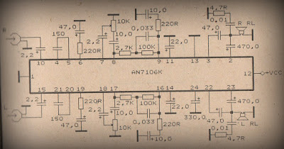 Power Amplifier Circuit with IC AN7106k