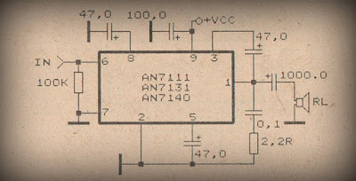 Power Amplifier Circuit with IC AN7111