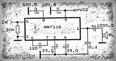 Power Amplifier Circuit with IC AN7116
