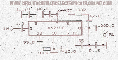 schematic power amplifier with ic an7117 wiring diagram schematicpower amplifier circuit with ic anxxxx collection electronic circuit power amplifier circuit with ic an7120