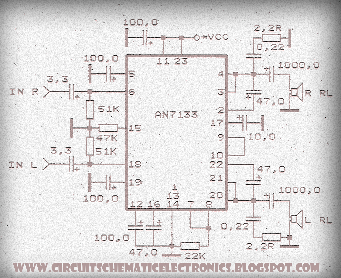 Amplifier Circuit With Ic An7133 Diy 1200w Power Sanken Electronic Related Posts