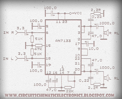 Power Amplifier Circuit with IC AN7133