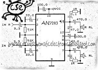 Power Amplifier Circuit with IC AN7143