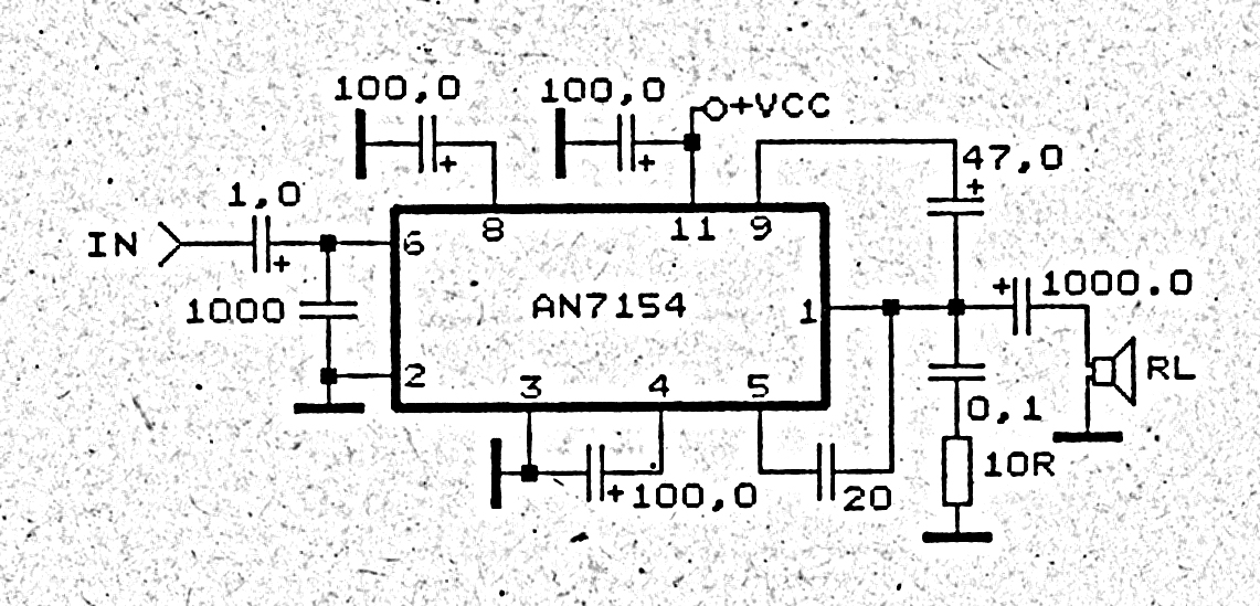 Power Amplifier Circuit with IC ANxxxx Collection