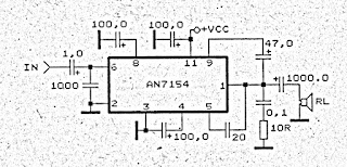 Power Amplifier Circuit with IC AN7154
