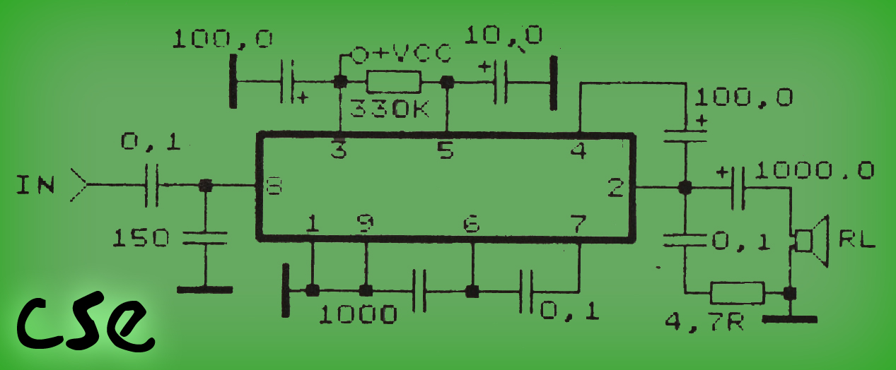 2 Watt Amplifier Circuit Diagram