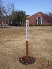 Peace Pole at Mayflower Church