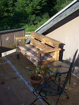 Sit And Rest Awhile. Pallet Wood Bench