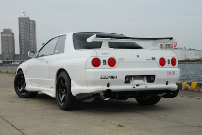 White Nissan Skyline Bumper Body Kit