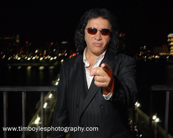 Gene Simmons poses in St Petersburg