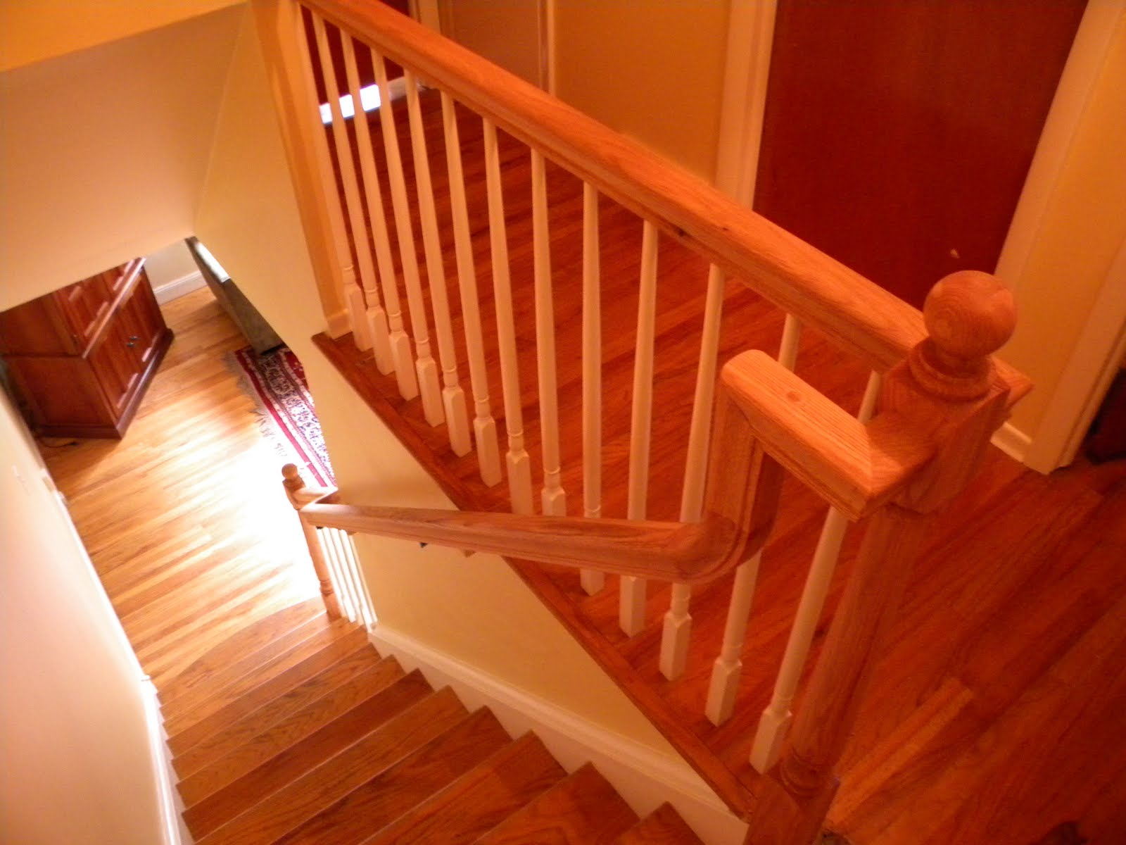 wood handrails for stairs | Wood Stairs and Rails and Iron Balusters: Wood Handrail ...