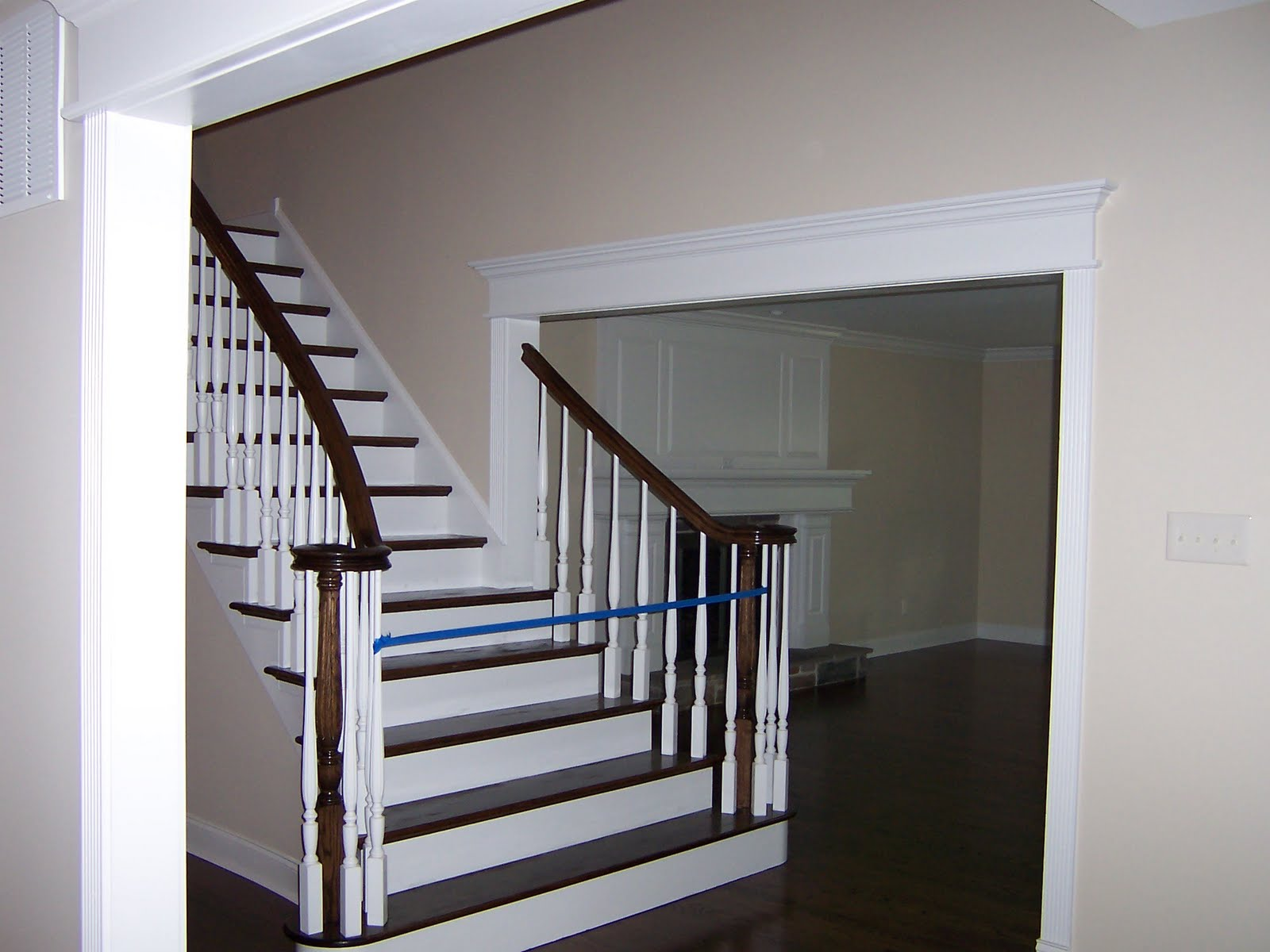 Wood Stairs and Rails and Iron Balusters: Flared Oak Stair ...