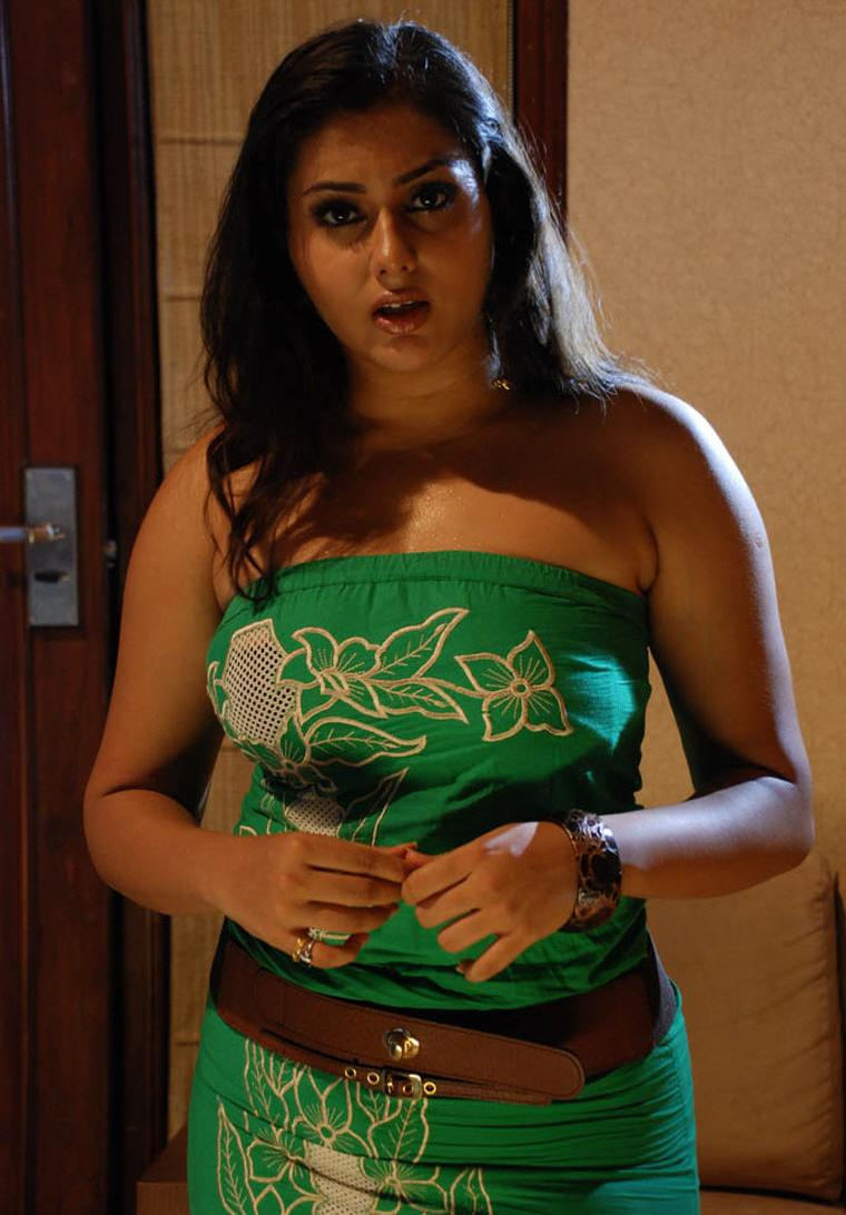 My Lovely Namitha Hot Boobs And Thigh Show In Tight Dress-9752