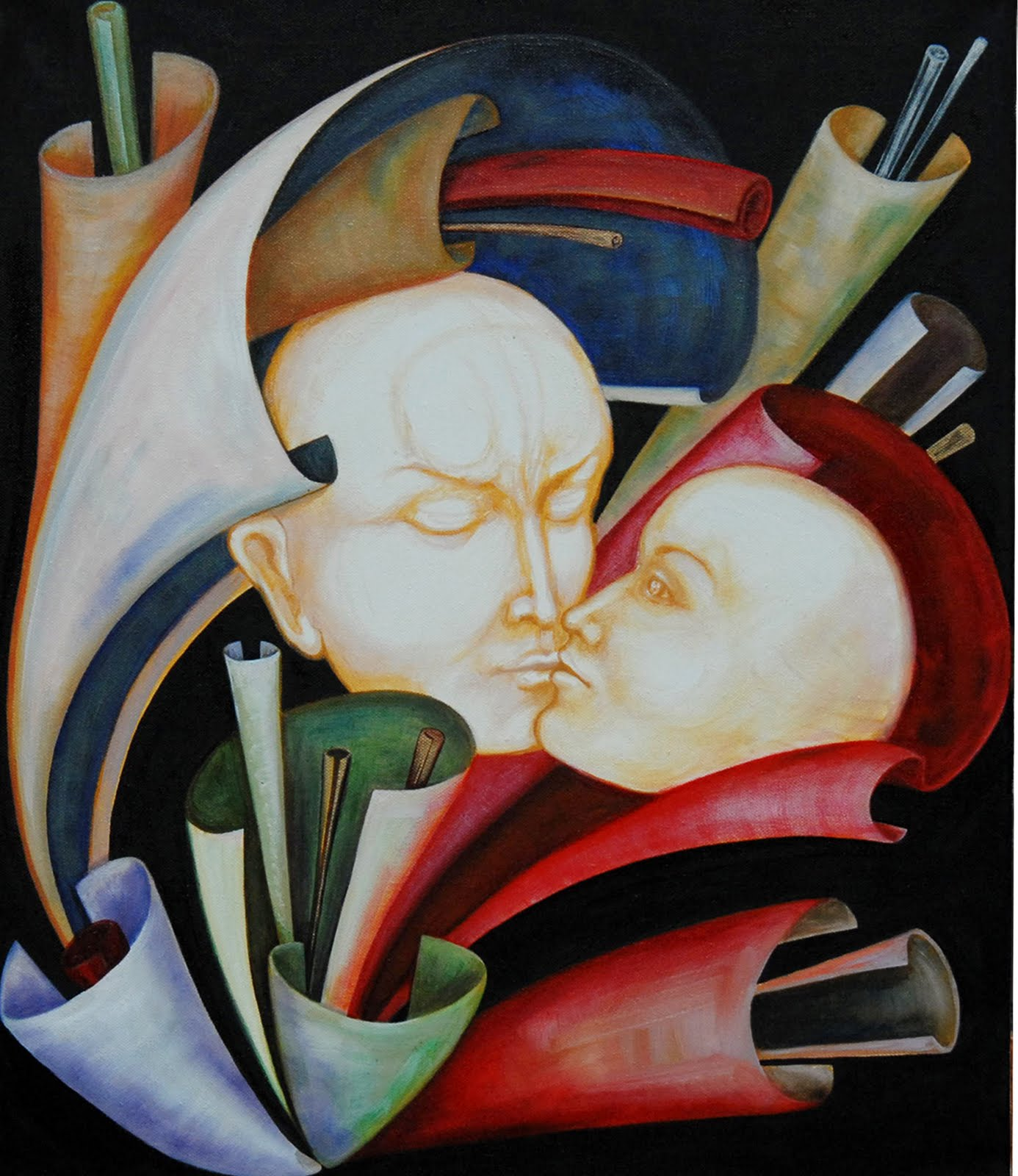 Love Paintings - Geometry of Love | Oil Painting Gallery