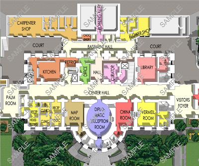 current white house floor plan