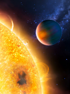 An artist's impression of the planet with methane
