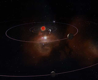 Artist's impression of the new solar system
