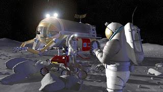 Nasa artist's impression of astronauts on the Moon