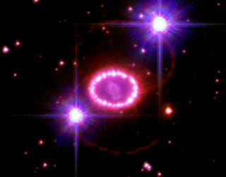Supernova ring of pearls