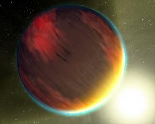 Artist's impression of a hot Jupiter.