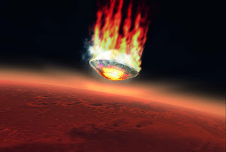 ESA impression of Beagle entering Mars' atmosphere