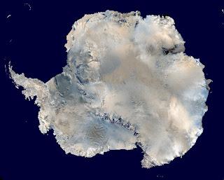 Nasa satellite image of Antarctica