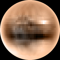 A colour map of Pluto